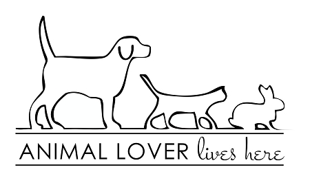 Animal Lover Lives Here 11 X 17 _p_818