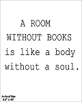 A room without books is like a body without a soul - 3.5