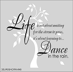 Life is not about waiting for the storm to pass, its about learning to dance in the rain (with tree) SIZE-11