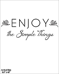 Enjoy the Simple Things