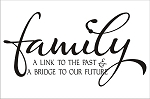 Family...A link to the past & a bridge to our future - 11.25