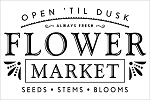 FLOWER MARKET SIGN - 11.25