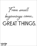 From small beginnings come great things - SIZE - 3.5