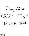 It might be a crazy life but its our life!