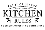 KITCHEN RULES SIGN - 11.25