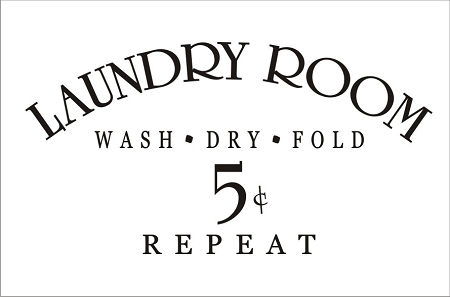 Our Laundry Room Sign X - Laundry room signs