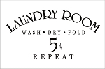 Our Laundry Room Sign - 11.25