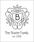 Custom Family Monogram MODERN - 17