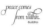 PEACE COMES FROM WITHIN - BUDDHA- 20