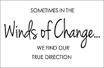 Sometimes in the winds of change we find our true direction - 11.25