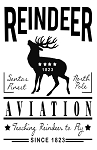 Reindeer Aviation Sign 11