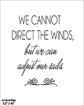 We cannot direct the winds but we can adjust our sails