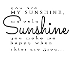 You are My Sunshine, my only sunshine - 17
