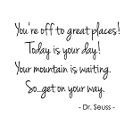 YOU'RE OFF TO GREAT PLACES...DR. SEUSS - 11.25