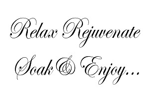 "RELAX REJUVENATE SOAK & ENJOY  SIZE- 11.25"" x 17"""