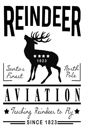 "Reindeer Aviation Sign 11"" x 17"""