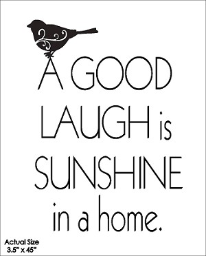 A Good Laugh is Sunshine in a home
