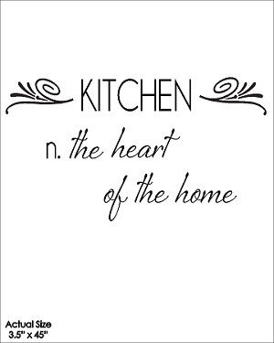 Kitchen n. the heart of the home